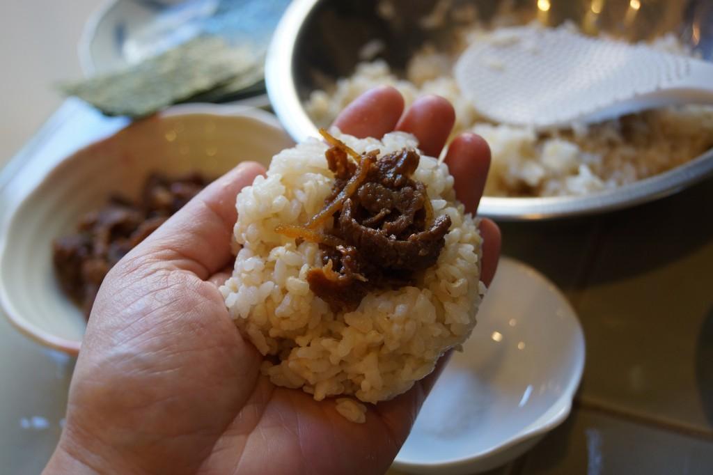 Onigiri with Beef Shigureni