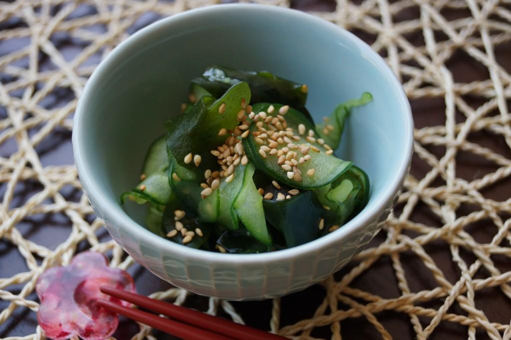 cucumber and wakame sunomono