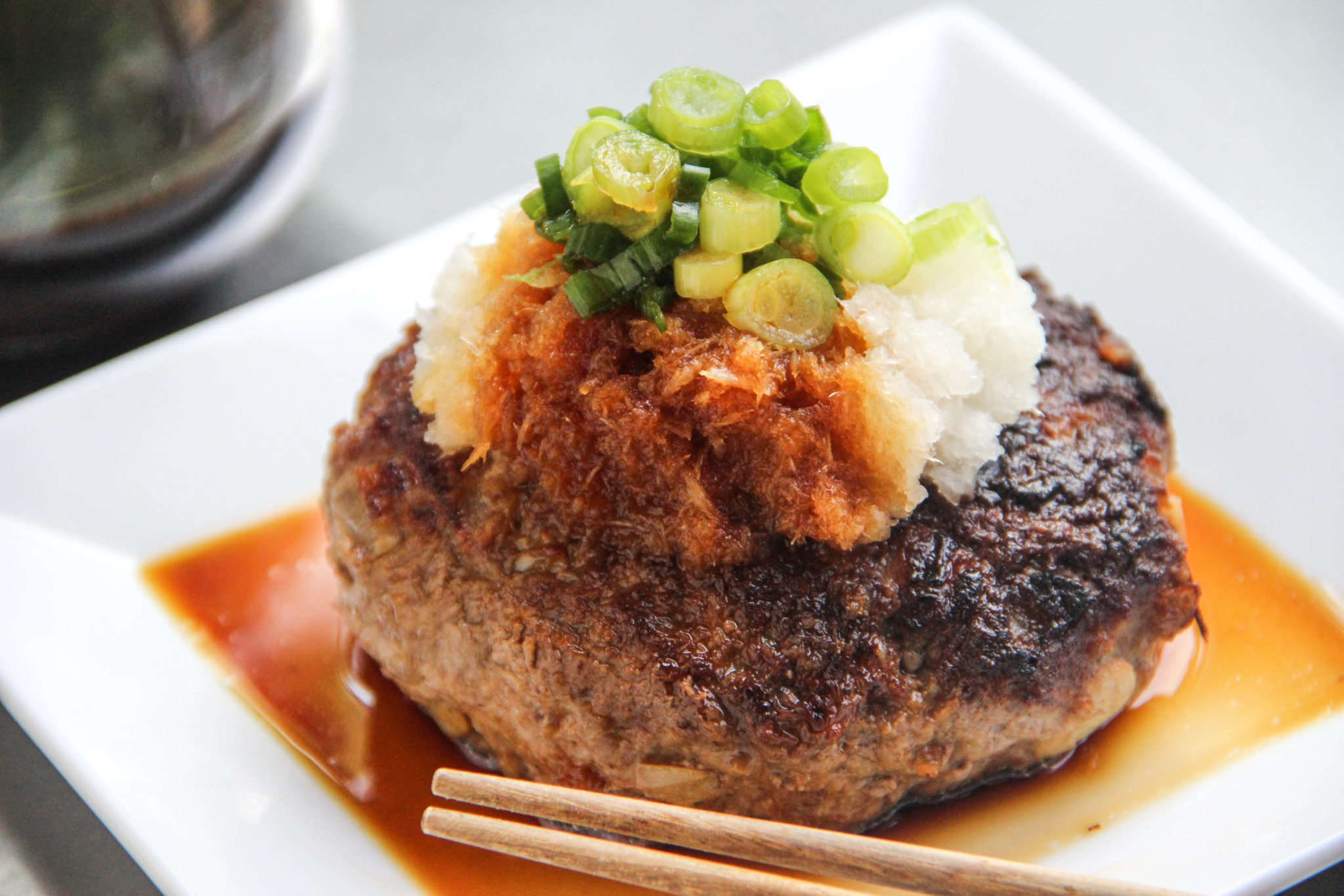 Hamburger Steak with Daikon Oroshi