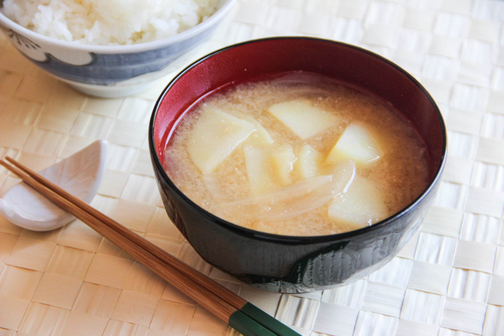 Miso Soup with Onion and Potato Recipe – Japanese Cooking 101