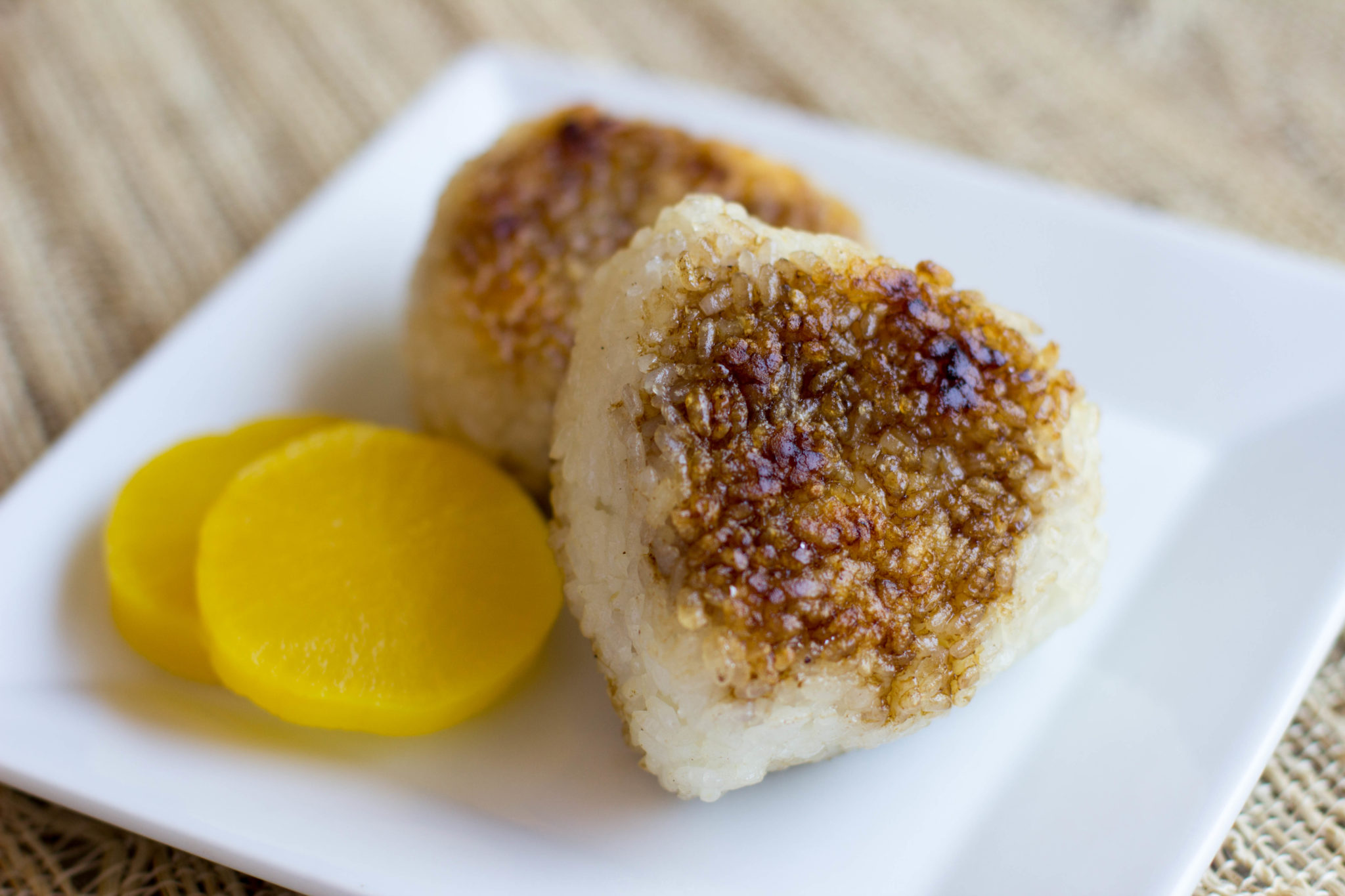 Yaki Onigiri Recipe (Grilled Rice Ball with Soy Sauce and Butter ...