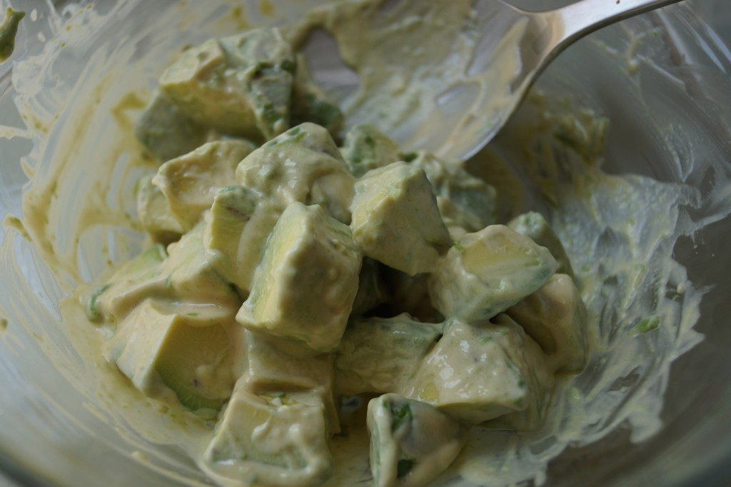 avocado salad with wasabi dressing