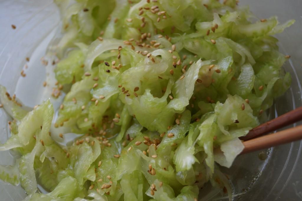 celery sunomono