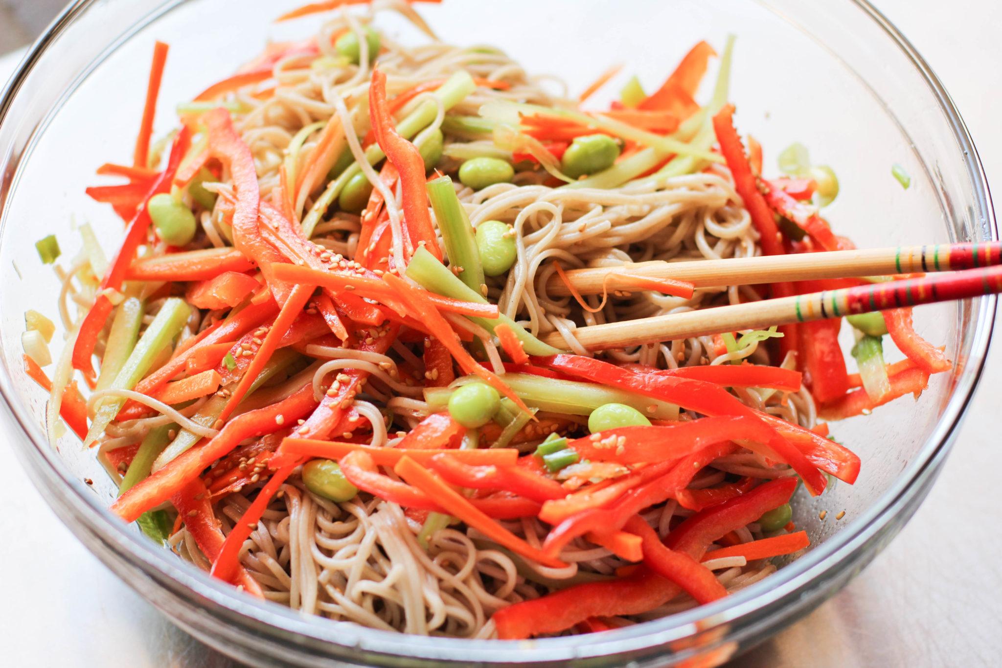 Soba Noodle Salad Recipe – Japanese Cooking 101