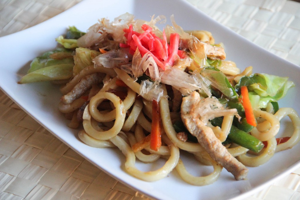 Yakiudon (Stir-fried Udon noodles)