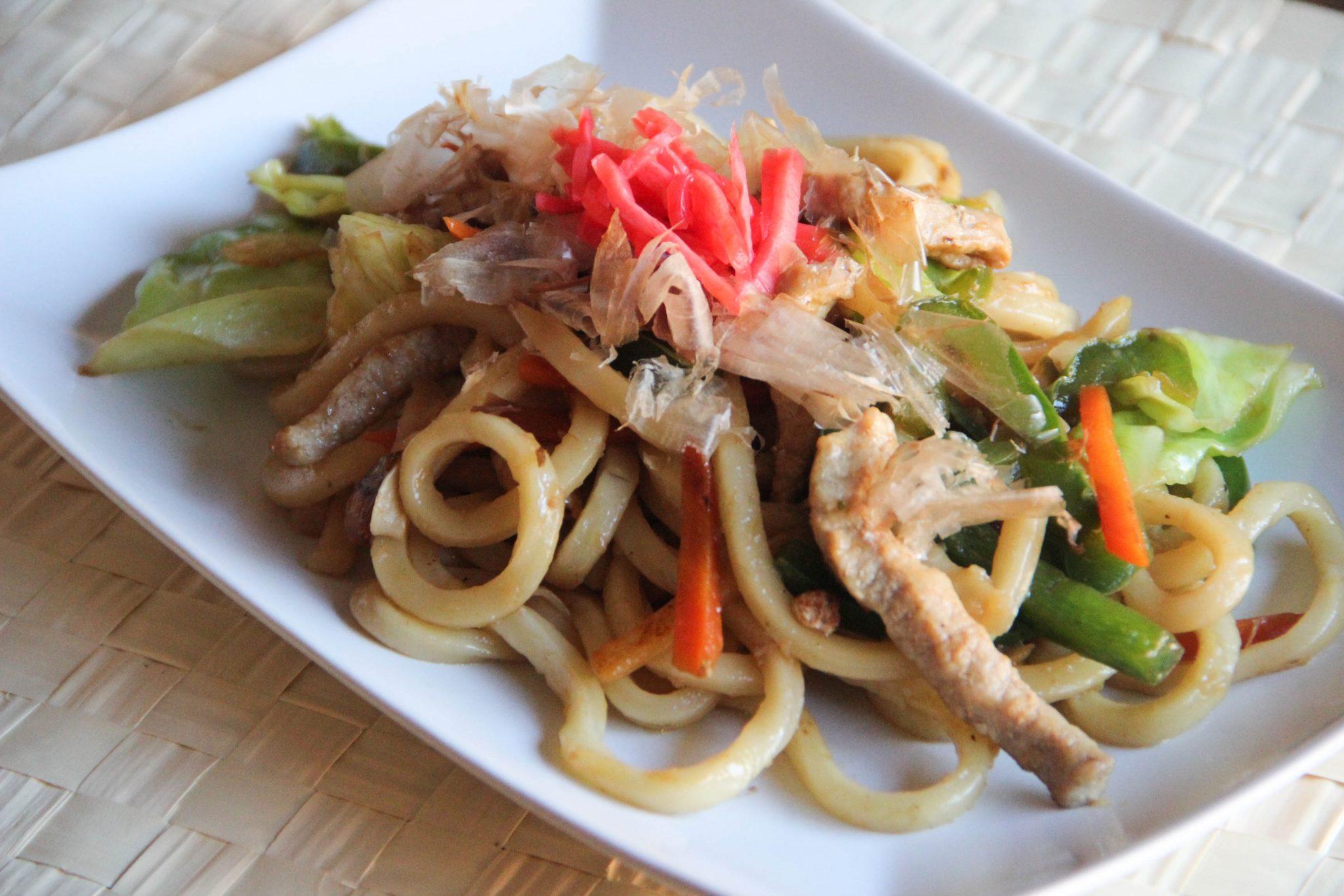 Yakiudon (Stir-fried Udon noodles)