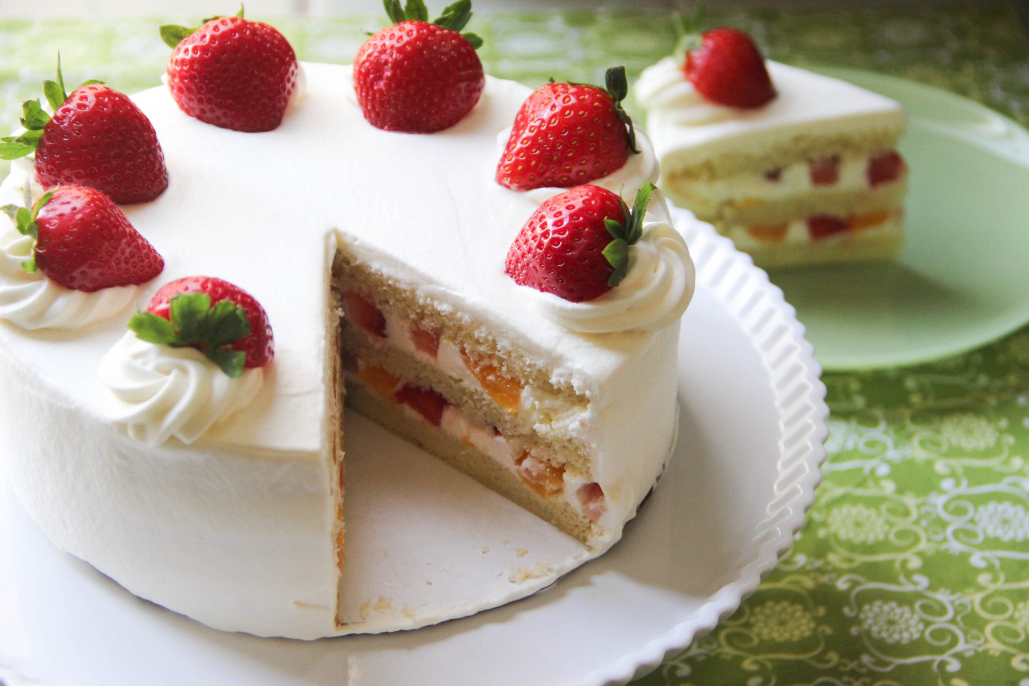 Summer Strawberry Coconut Cake Recipe