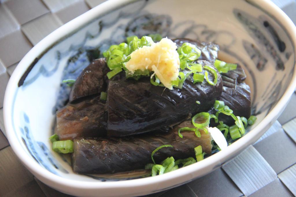 Nasu Nibitashi (Braised Eggplant)