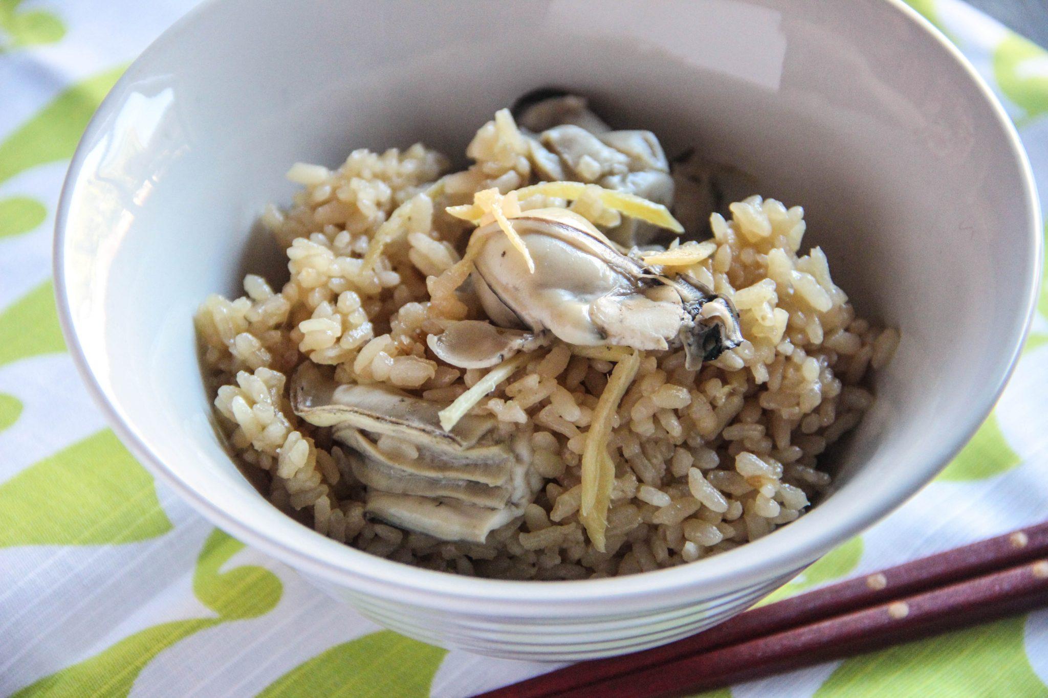 Kaki Gohan (Oyster Rice) Recipe