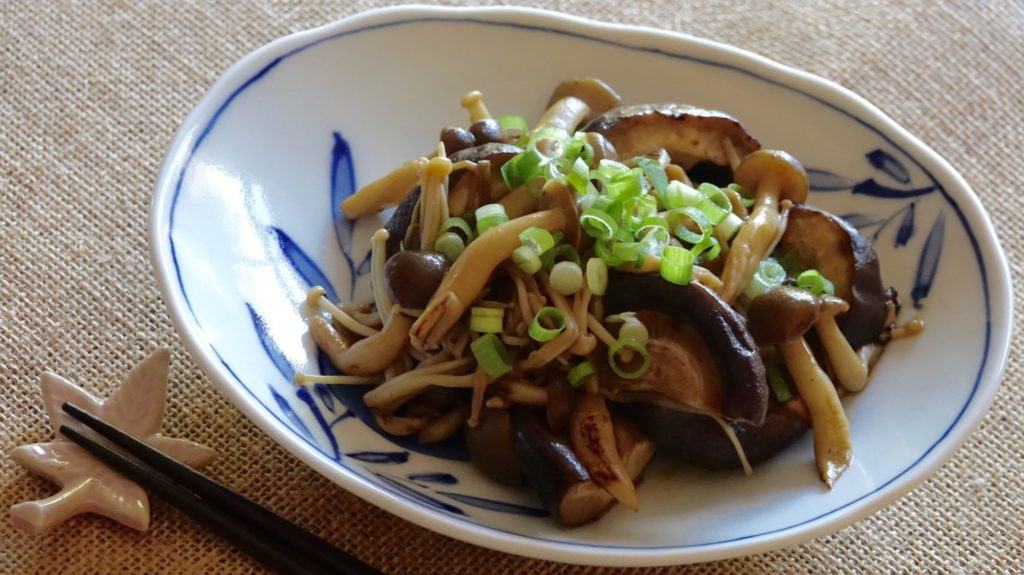 Sauteed Mushrooms with Soy Butter Sauce