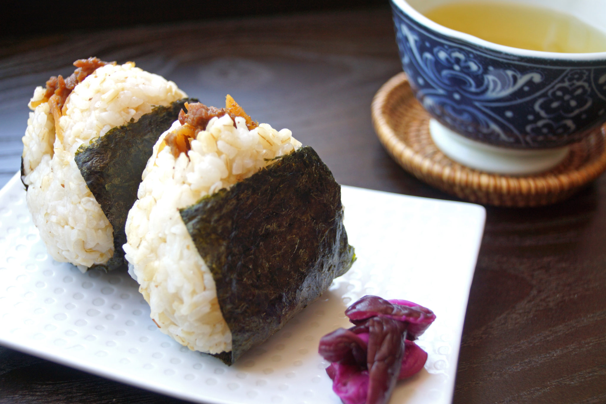 Onigiri with Beef Shigureni