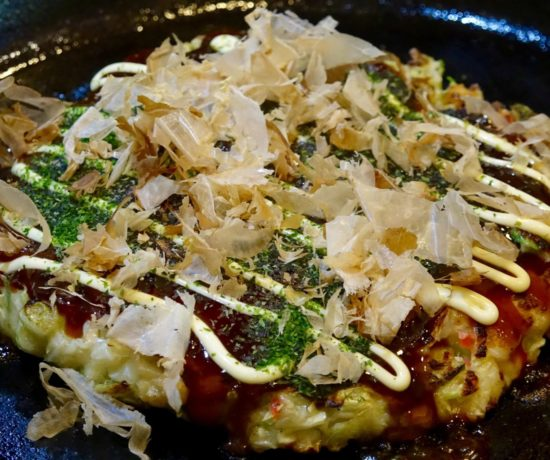Okonomiyaki with Squid