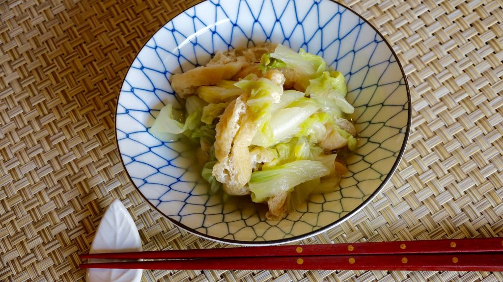 Napa Cabbage Nibitashi