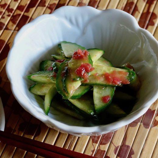 cucumber with plum sauce